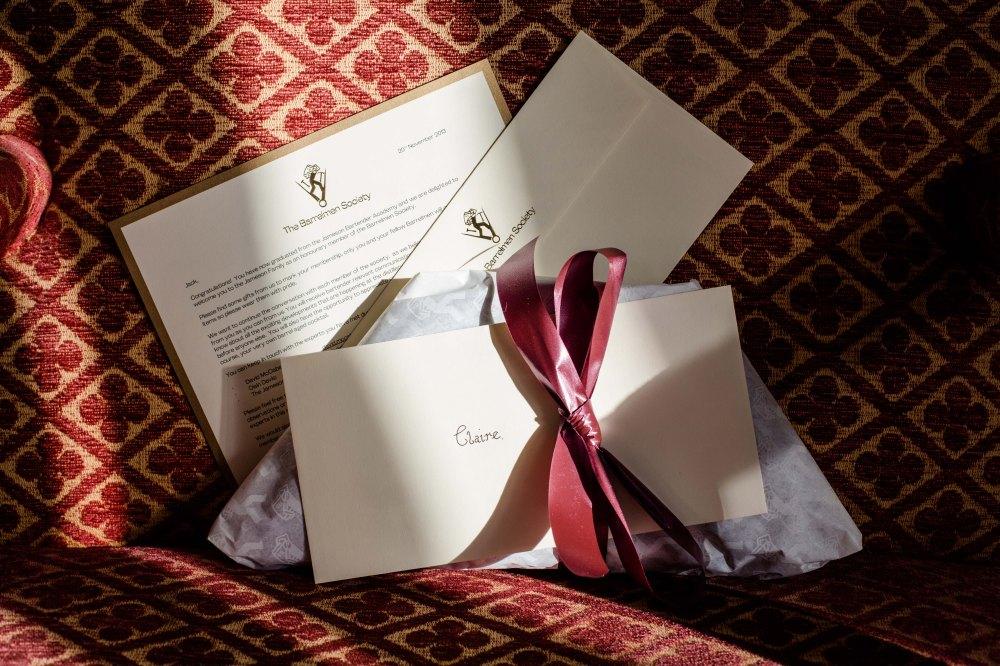 Barrelmen Society Welcome Letter & Gift